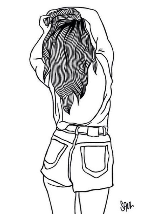 Черно белые картинки прикольных девочек