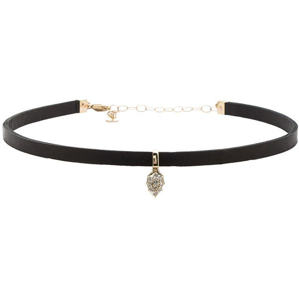 Carbon & Hyde Pasha Hyde Choker found on Polyvore featuring jewelry, necklaces, choker, accessories, black, round pendant necklace, pendant jewelry, round necklace, 14k necklace and 14 karat gold pendants