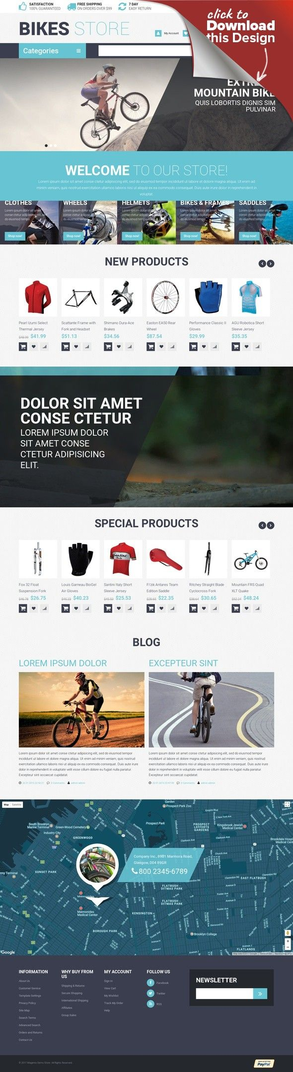 Cycling Store Magento Theme E-commerce Templates, Magento Themes, Sports, Outdoors & Travel, Sport Templates, More Sports, Cycling Templates