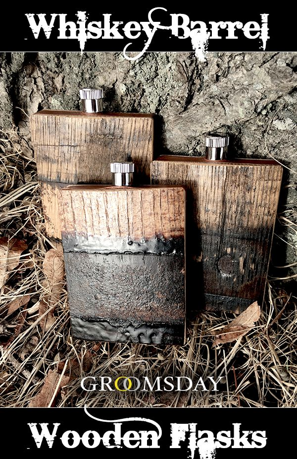 Snag this flask made of the same elements previously used to store and cure the finest bourbon, imparting the same traditional, barrel-aged flavor onto each sip.There are no other groomsmen gift ideas that will fit the bill like this one. Because a man who enjoys hard liquor knows what to expect once he takes a crack at this. Share & repin!  Only from Groomsday | Groomsday.com #groom #giftideas #mensaccessories #giftsforhim #personalizedgifts  #giftsformen #mensgifts #groomsmengift