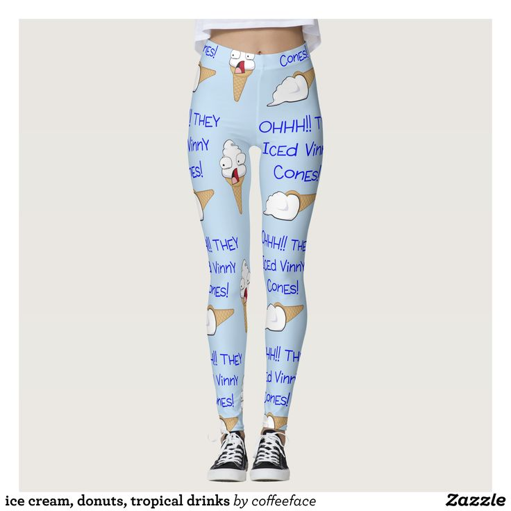 ice cream donuts tropical drinks leggings - Printed #Yoga #Leggings & Running Tights Creative Workout and #Gym #Fashion Designs From International Artists - #pilates #exercise #crossfit #workout #tights #running #sports #design #fashiondesign #designer #fashiondesigner #style #pants