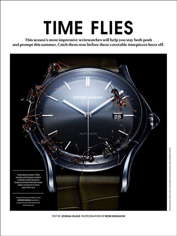 TIME FLIES / Essential Homme Magazine June/July