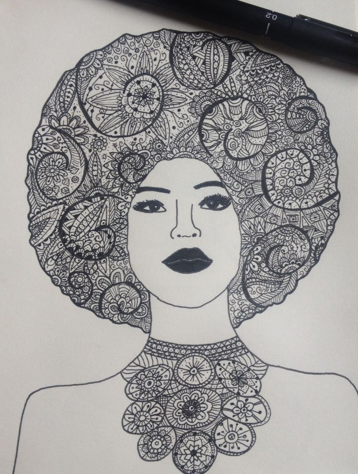 Zentangle woman