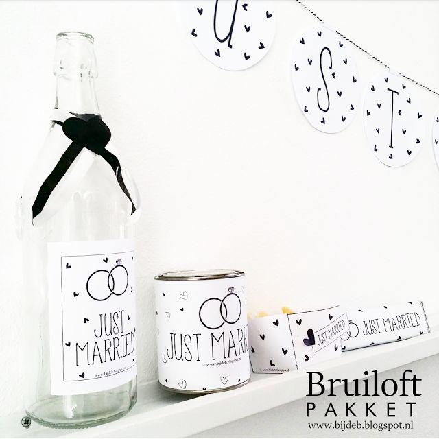 bijdeb: Free printable Bruiloft pakket