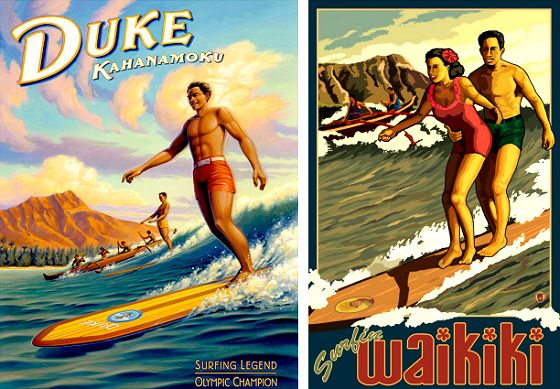 Vintage+Surf+Posters+|+Surfing+posters+have+been+designed+to+communicate+the+spirit+of+the+...