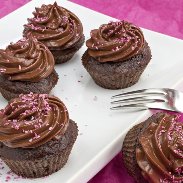flourless chocolate cupcakes are made with a dairy free chocolate ...