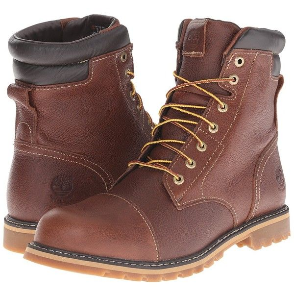 Timberland Chestnut Ridge 6 Insulated Waterproof Boot (Dark Brown Full... ($190) ❤ liked on Polyvore featuring men's fashion, men's shoes, men's boots, men's work boots, timberland mens boots, mens lace up boots, mens cap toe boots, mens boots and mens waterproof boots