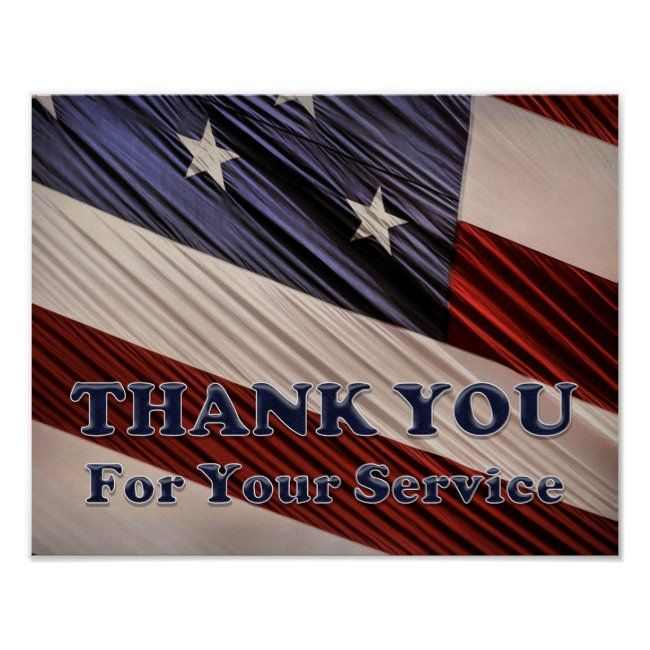 Usa Military Veterans Patriotic Flag Thank You Poster Zazzle Com In 2020 Patriotic Flag Thank You Poster Military Veterans