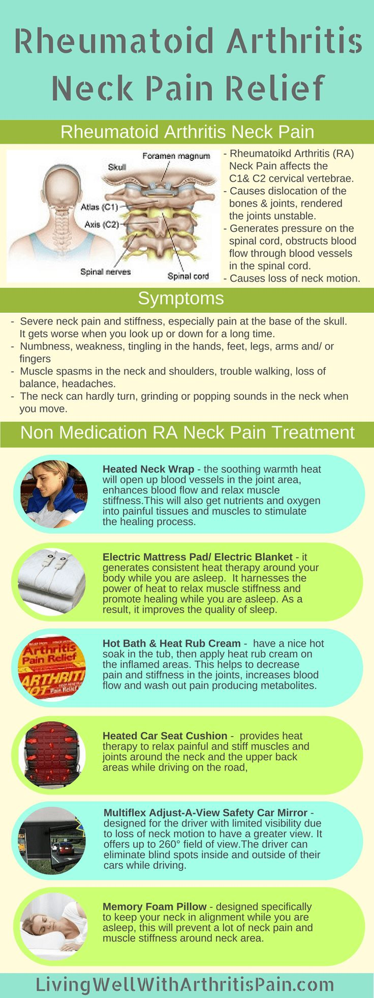 Top 6 Rheumatoid Arthritis Non-Medication Neck Pain Treatment