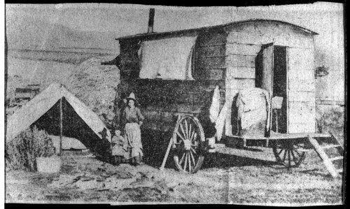 School in a Chuck Wagon, Finney County, Kansas  1870- 1900