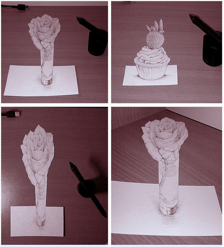First Attempt - 3D Anamorphic Drawing by 5agado.deviantart.com on @DeviantArt