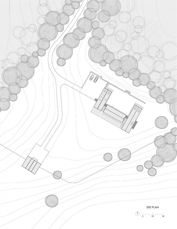 architecture site plan _ lots of trees !
