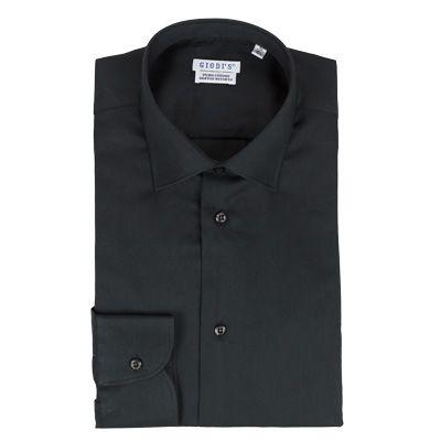 Shirts - GIODI'S - Camicia in cotone doppio ritorto, vestibilità SLIM - Nero. €18,00 - #hallofbrands #hob #camicia #shirt