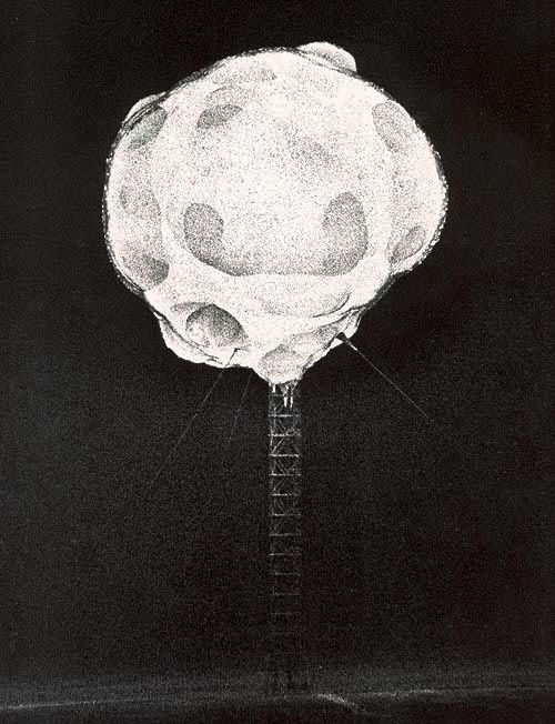 These photos were taken in 1952 during nuclear tests in Nevada by Harold Edgerton. They were taken less than 1/10000000 of a second after the explosion with a special camera connected to the detonator and with an exposure time of 1/1 000 000s.