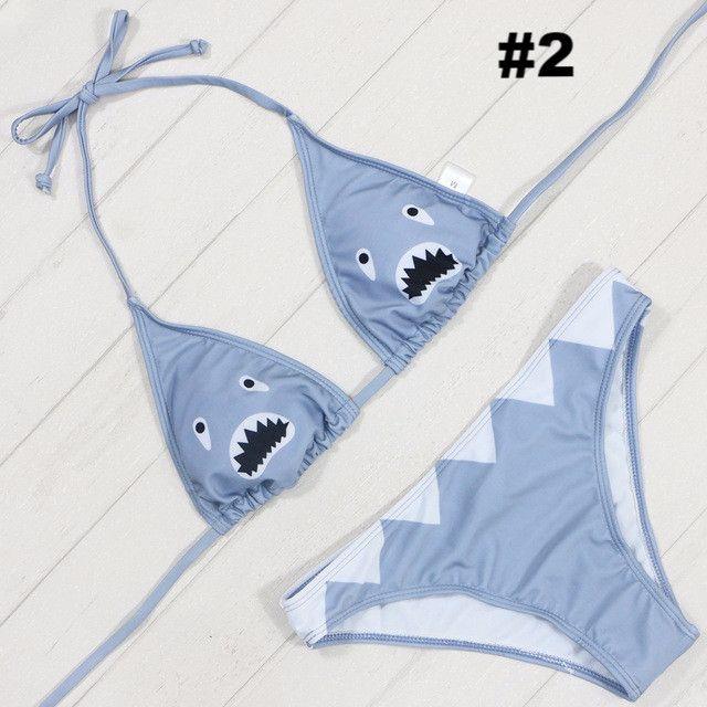 Cartoon Cat Bikini Sets Beach Swimwear KW1710142