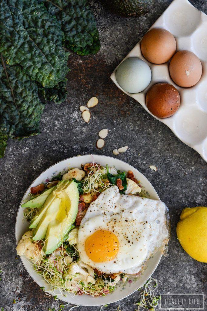 Paleo Cauliflower Avocado Egg Bowl Recipe | Ready in 23 minutes | Paleo Recipe | Whole30 Recipe | Gluten Free Recipe | Healthy Recipe | Easy Recipe