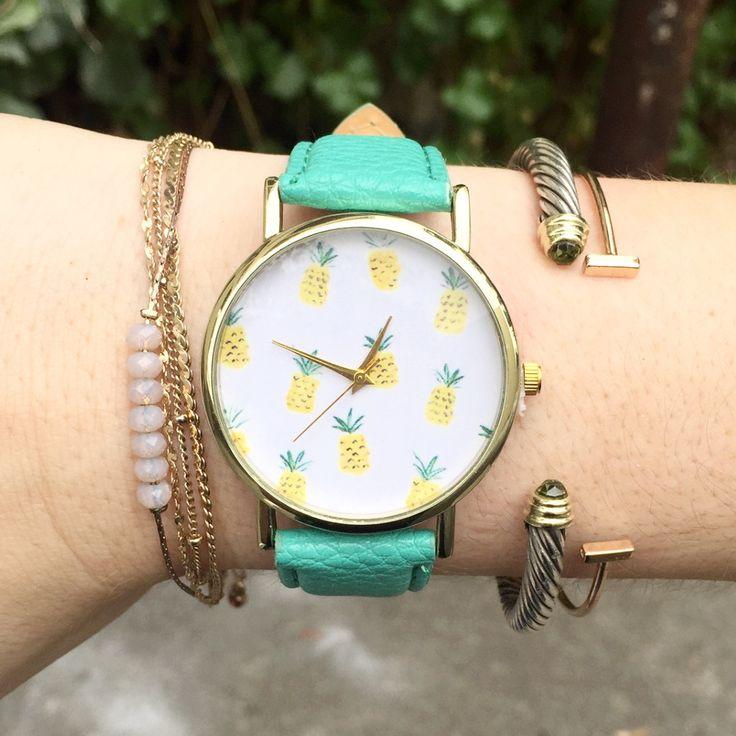 Pineapple Vegan Leather Watch