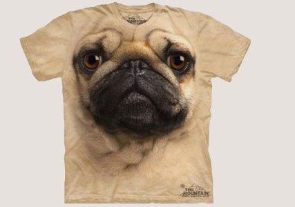 pug dog t-shirt @ coolkaboodle.com