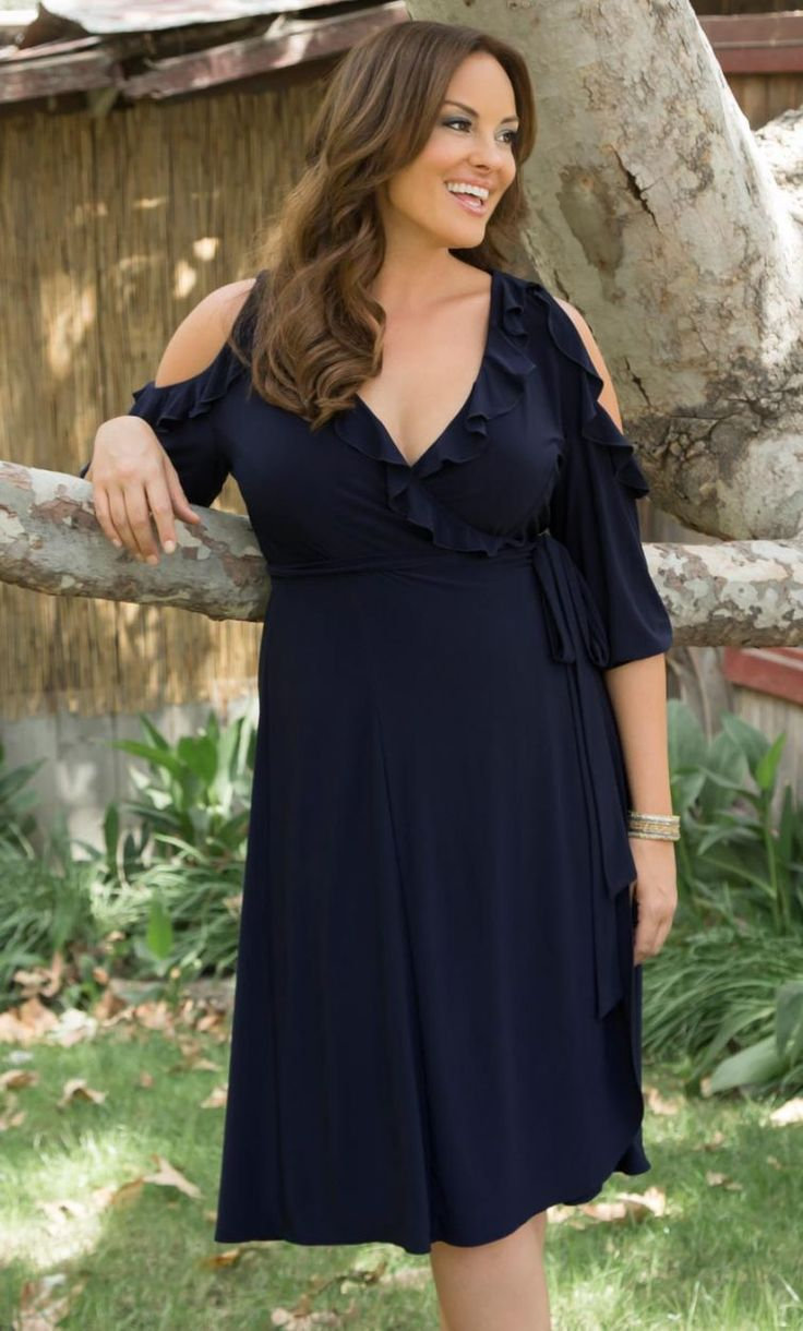 Our Barcelona Wrap Dress was made for a world of festivities! #CurvaliciousClothes #plussize