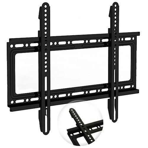 """Universal Fixed Low Profile TV Wall Mount; (fits most screens from 32"""" - 60"""") by Unknown. $19.09. This low-profile TV wall mount is for LED, LCD, Plasma and other flat panel displays measuring between 32-60"""" diagonally.  It's simple to install with a sturdy, one-piece, 13-gauge steel backplate and 2 pre-assembled mounting arms.  The mount supports all VESA standards up to 400x400 (mounting holes on your screen can be up to 18"""" apart horizontally and up to 16"""" vertically).  Four..."""