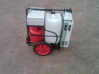"The First Water Fed Pole ""Hot Wash"" Mobile Trolley System"