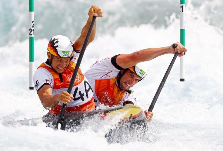 Die deutschen Slalom-Kanuten stehen in allen vier Disziplinen in den...