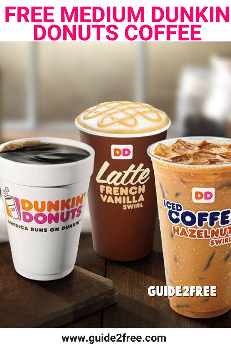 FREE Medium Dunkin Donuts Coffee Dunkin donuts coffee