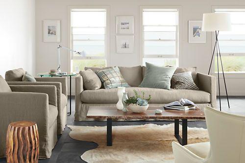 room board cream cowhide rug living room decor pinterest