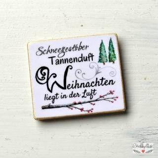 shabbyflair Weihnachtlicher Magnet mit Spruch