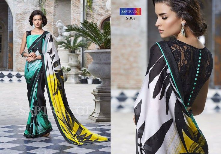 """""""Sarees for 2499/-"""" Pls call/whatsapp +919600639563. Code: saf spblublk Price: 2199/- Material: Georgette saree with designer blouse. For boking and furthger details pls call or whatsapp us at +919600639563. Happy shopping y'all :) Be Beautiful :)"""