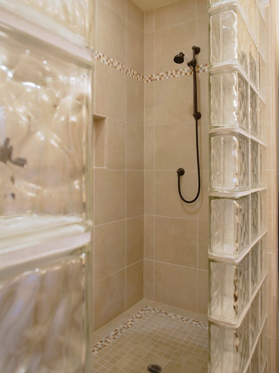 Glass Block Shower Enclosure Design Pictures Remodel
