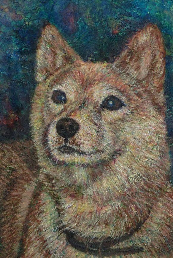 私が赤ちゃんの時から小学生の頃まで、ずっとお世話になっていた柴犬のあいちゃんを描きました。画材 キャンバス、コラージュ(半紙)、アクリル、油彩作品サイズ SM...|ハンドメイド、手作り、手仕事品の通販・販売・購入ならCreema。