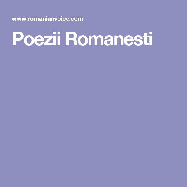 Poezii Romanesti
