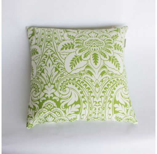Cushion in Green Floral - Handmade in Noosa, these Plump Cushions come in a variety of colours and patterns to compliment any decor.