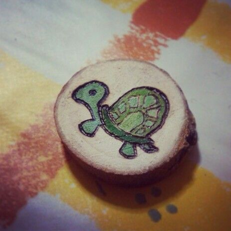 <3 Tortoise <3  Made on wood, it could be a sweet original gift. It can be done as pendant, ring or earings. Don't miss it! Choose your animal!  #goblinsandfairys #tortoise #woodenpendant #woodearings #woodring #sweetanimal
