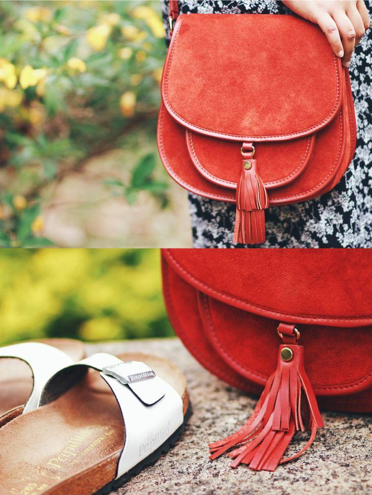 ASOS Saddle bag ♥ Birkenstock Papillio sandals // outfit details from A Curious Fancy
