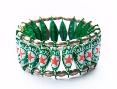 Bracelet en capsules de bière