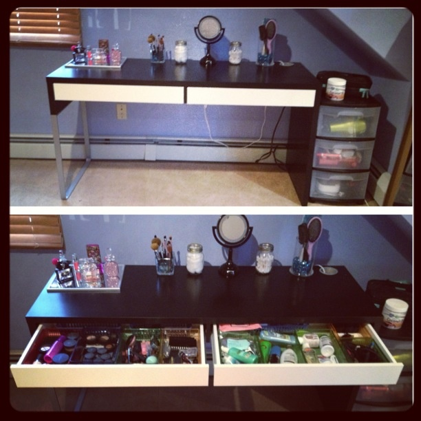 Vanity The Store Sign : Vanity ikea micke desk dollar store drawer organization