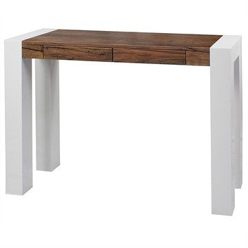 Odyssey 2 Drawer Console Table - Antique Oak/White