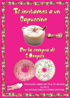 Doopies & Coffee te invita a un café capuccino por la compra de 2 doopies.  Promoción válida para España en locales adheridos hasta el 16/06/2013.  http://www.baratuni.es/2013/06/regalos-directos-doopies-and-coffe-capuccino-gratis.html  #regalosdirectos    #doopiesandcoffee    #doopies    #baratuni