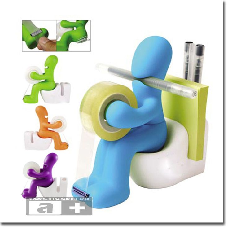 Butt Station Office Desk Organizer Tape Dispenser Pen Memo Holder Clip Storage  :)   $13.00