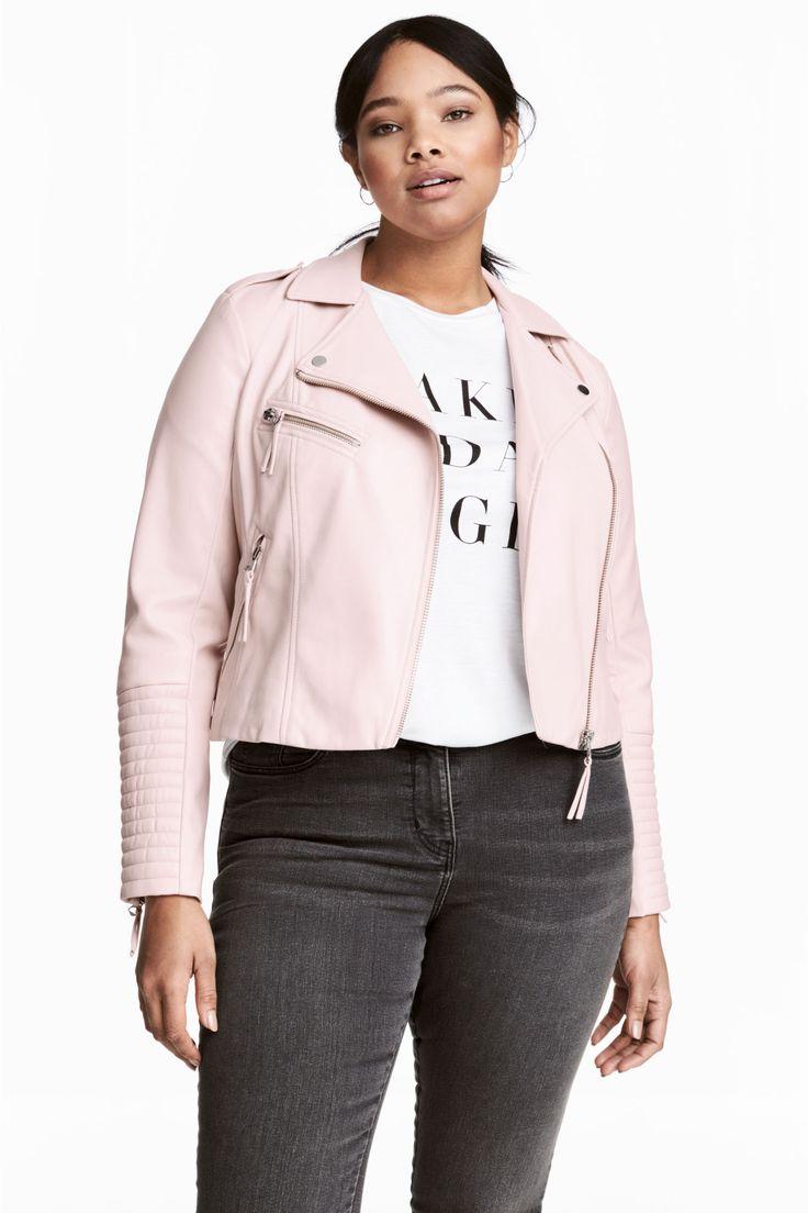 H&M+ Biker jacket - Light pink - Ladies | H&M GB