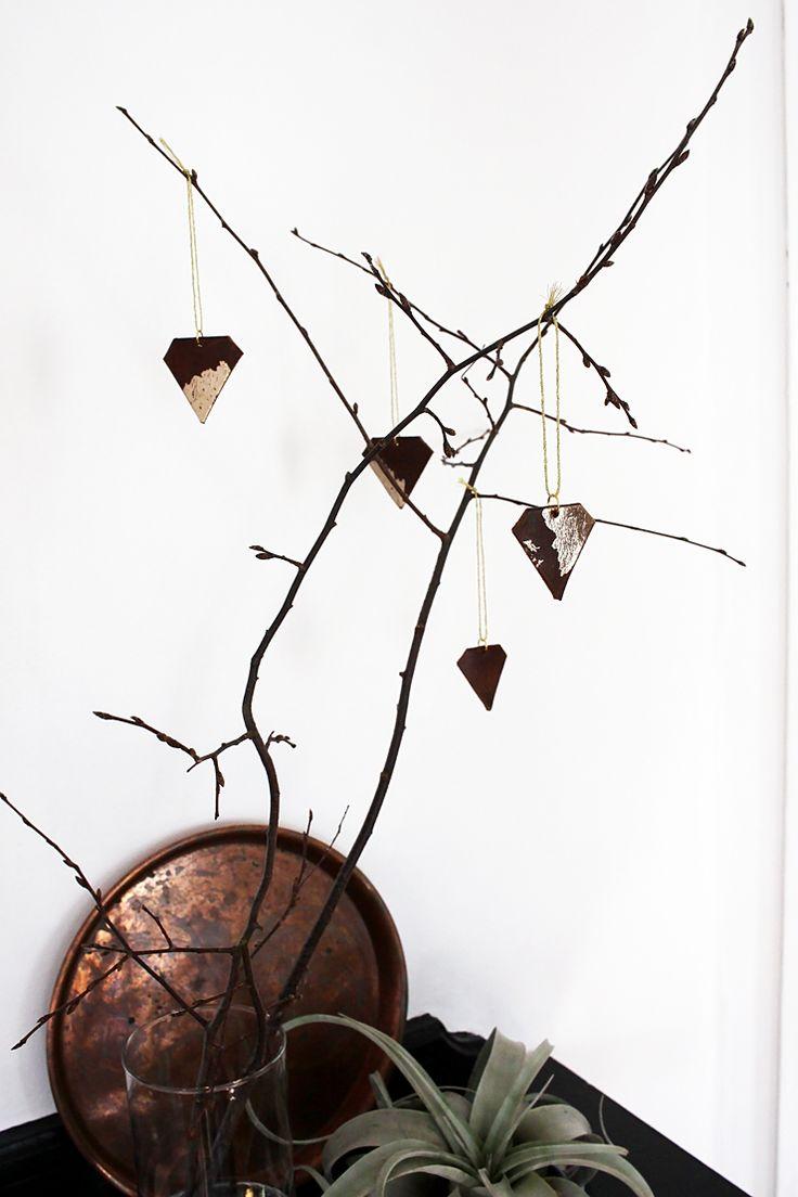 DIY Leather Gemstone Ornaments by Idle Hands Awake