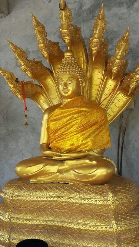 Golden statue at The Big Buddha, Phuket