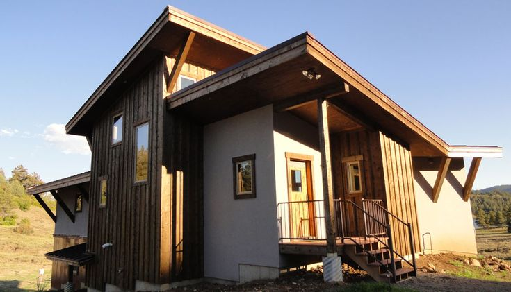 Mining Style Timber Frame Passive Solar Architecture
