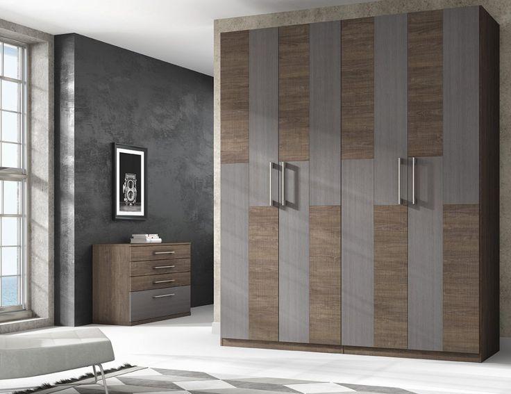 Armario con puertas abatibles 168 a1 muebles - Muebles casanova ...