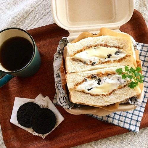 食パンdeティラミス・オレオサンド♪簡単なデザートサンド