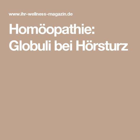 Homöopathie: Globuli bei Hörsturz