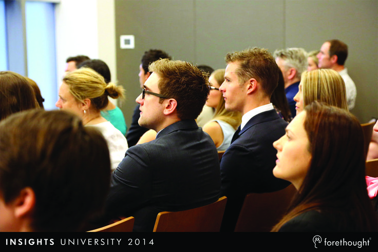 Guest photo at #InsightsUni14  www.forethought.com.au