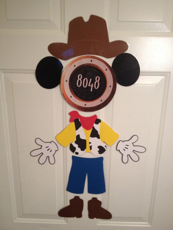 Woody Toy Story Costume Mickey Mouse Body Part Stateroom Door Magnets for Disney Cruise by Ashalinaballerina on Etsy